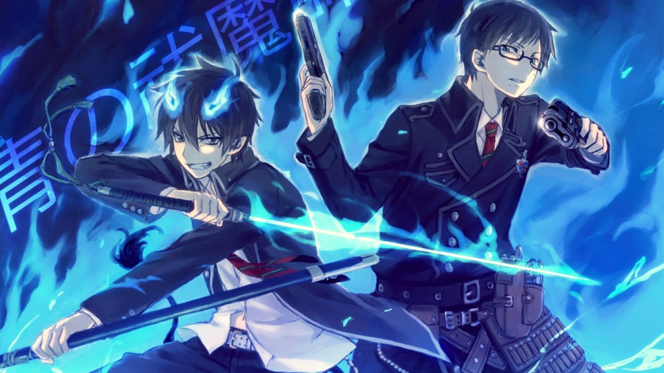 High resolution Blue Exorcist (Ao No) hd 1366x768 wallpaper ID:242116 for computer