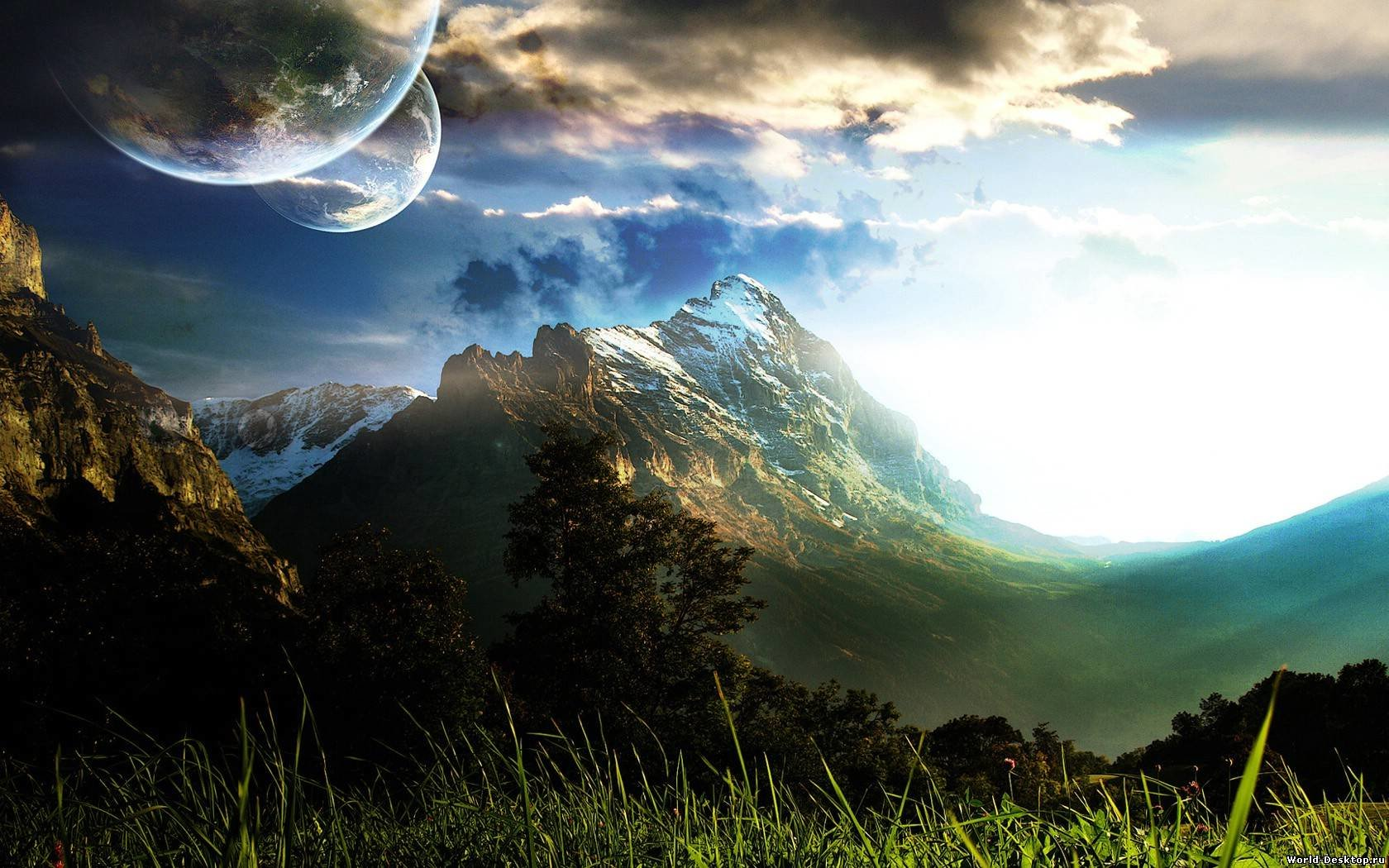 Download hd 1680x1050 Sci Fi landscape PC background ID:232833 for free
