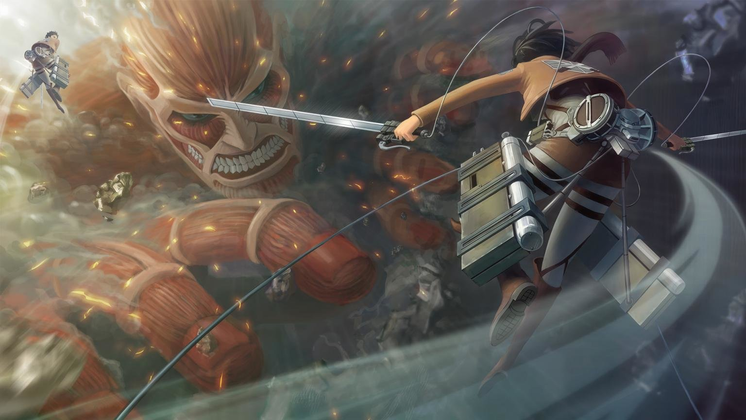 Free Mikasa Ackerman high quality background ID:205992 for hd 1536x864 desktop