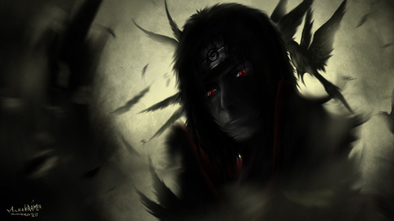 Free Itachi Uchiha high quality wallpaper ID:396604 for 1366x768 laptop desktop