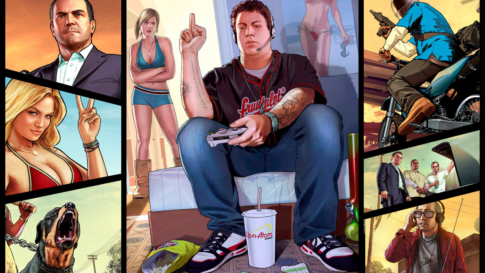 grand theft auto v (gta 5) wallpapers 1600x900 desktop backgrounds