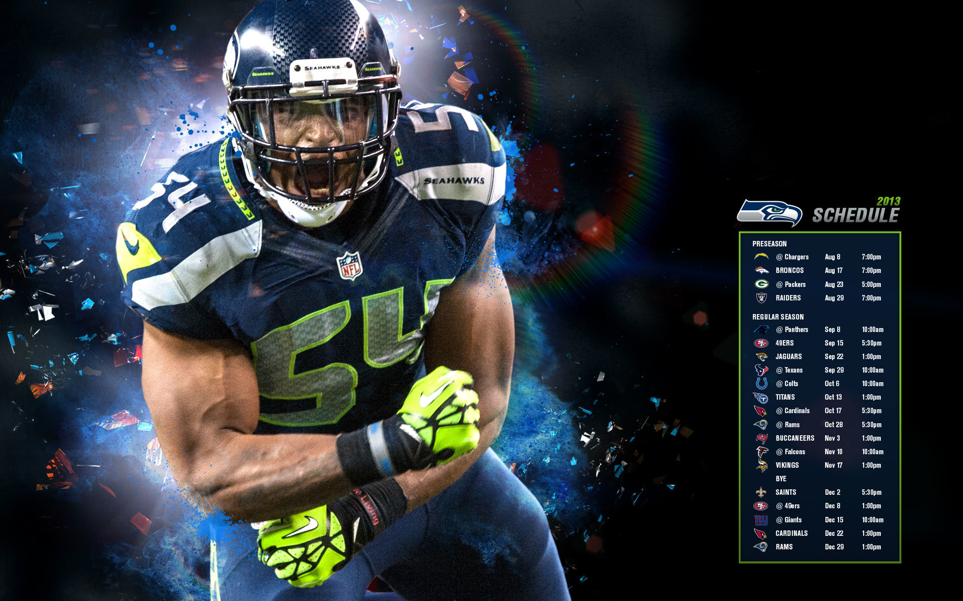 Awesome Seattle Seahawks free wallpaper ID:347955 for hd 1920x1200 PC