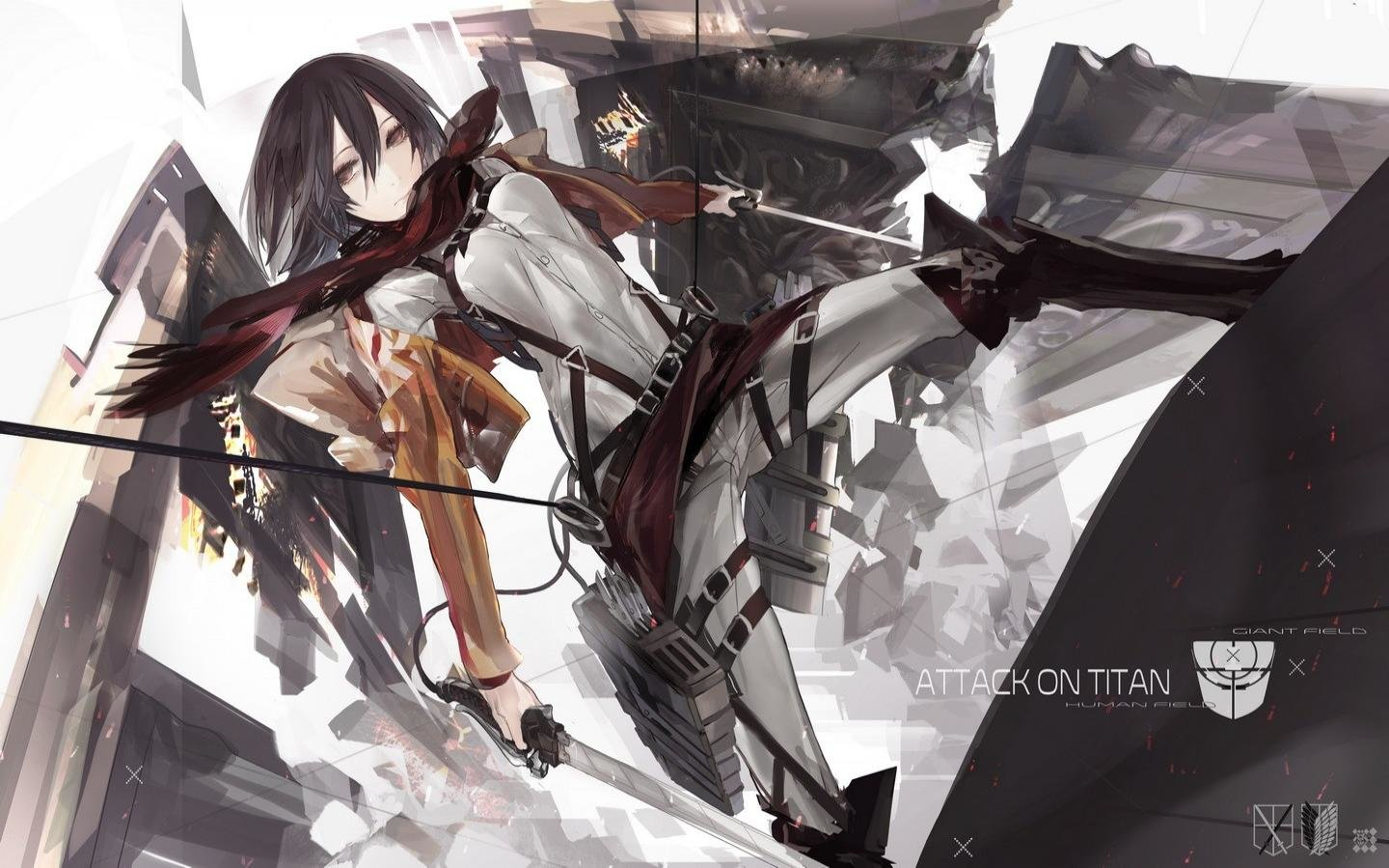 Free download Mikasa Ackerman background ID:206323 hd 1440x900 for PC