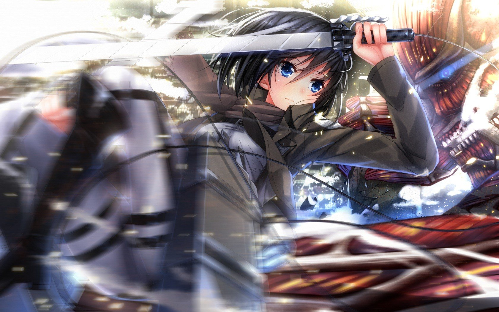 High resolution Mikasa Ackerman hd 1680x1050 background ID:206168 for desktop