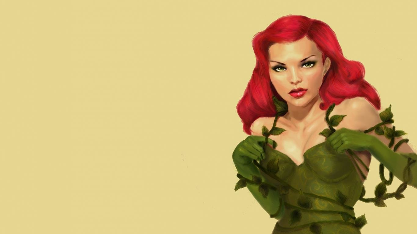 Best Poison Ivy wallpaper ID:430612 for High Resolution 1366x768 laptop PC
