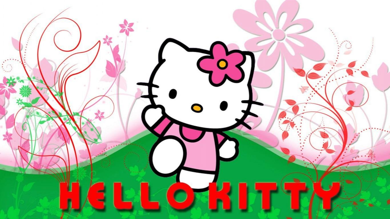 Hello Kitty Wallpapers 1366x768 Laptop Desktop Backgrounds