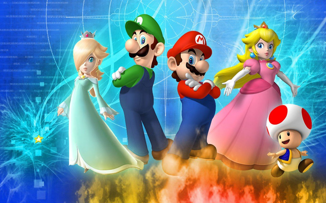 Super Mario Galaxy Wallpapers 1280x800 Desktop Backgrounds