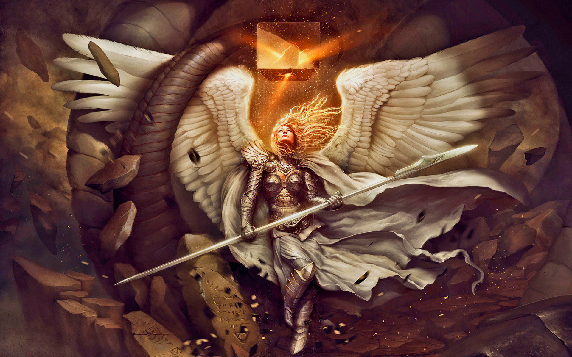 Awesome Angel Warrior free wallpaper ID:352377 for hd 1920x1200 PC