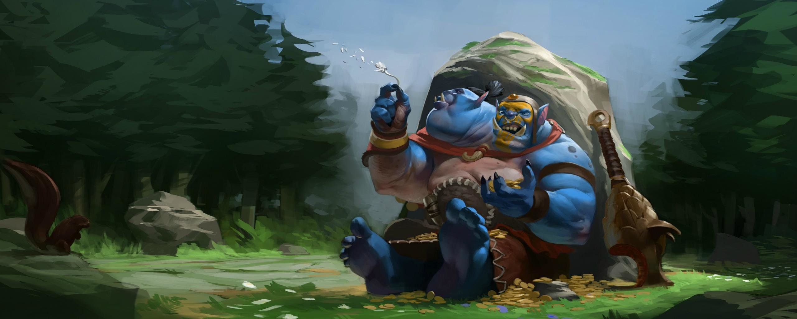 Download dual screen 2560x1024 DotA 2 computer wallpaper ID:302427 for free
