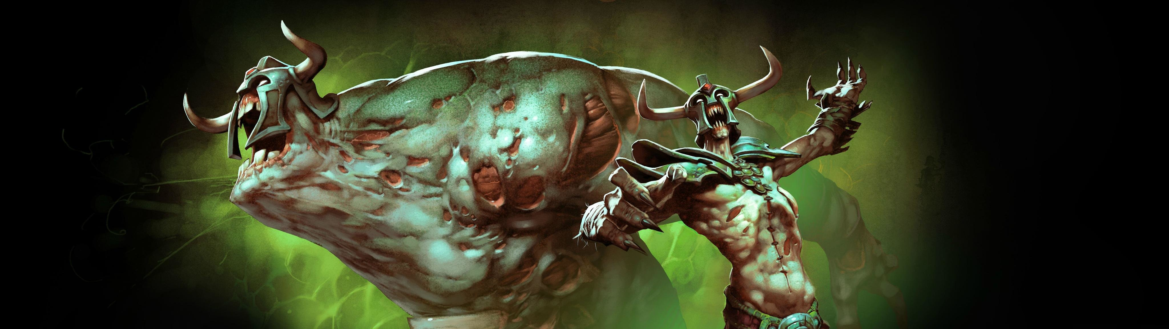 Best DotA 2 background ID:303375 for High Resolution dual screen 4096x1152 PC