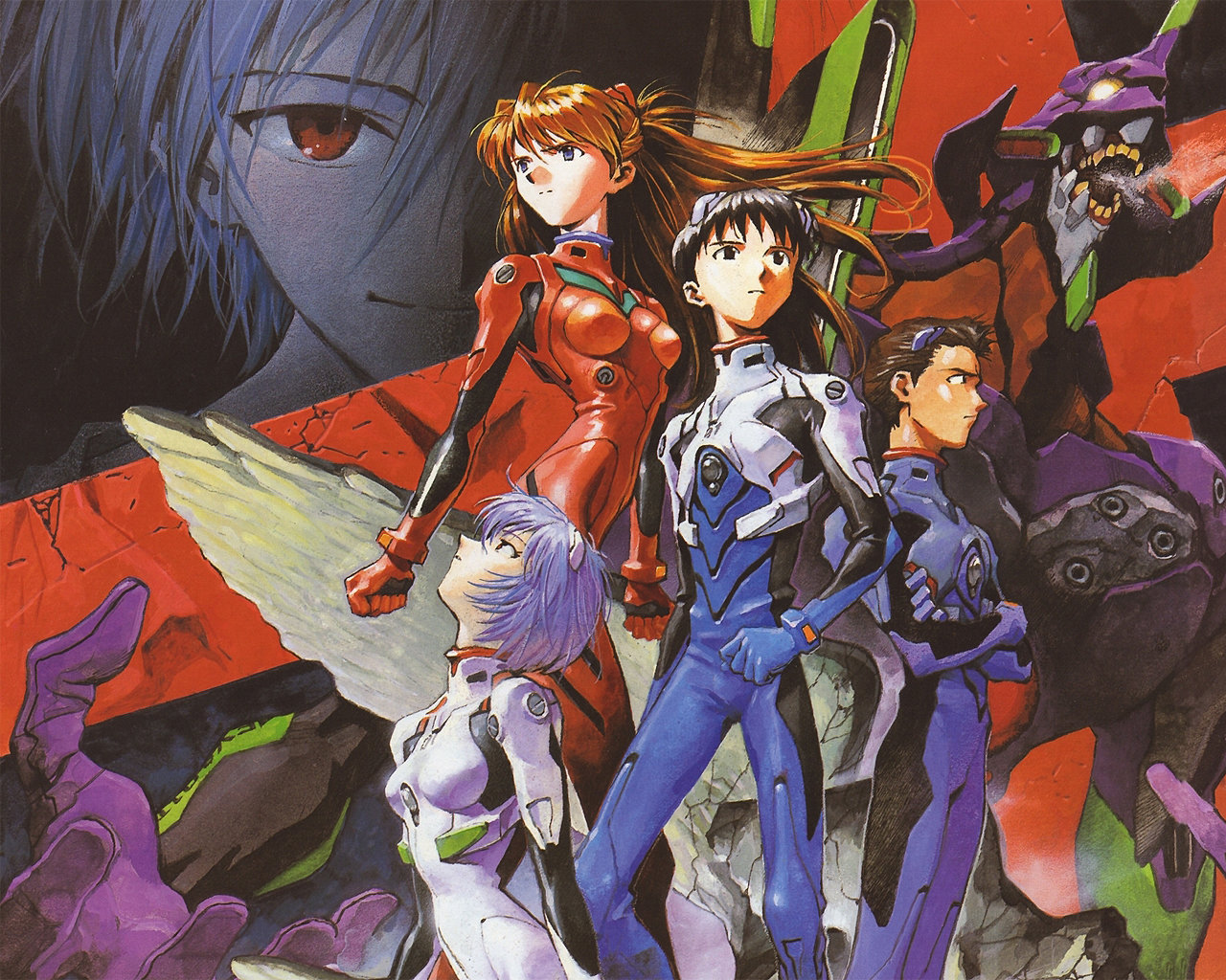 Awesome Neon Genesis Evangelion free wallpaper ID:214929 for hd 1280x1024 PC