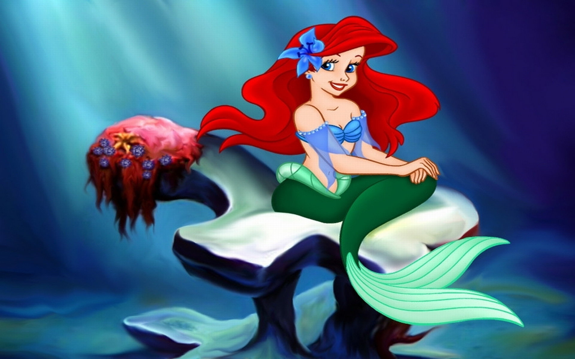 Awesome Little Mermaid Free Wallpaper Id 321501 For Hd 1920x1200 Computer