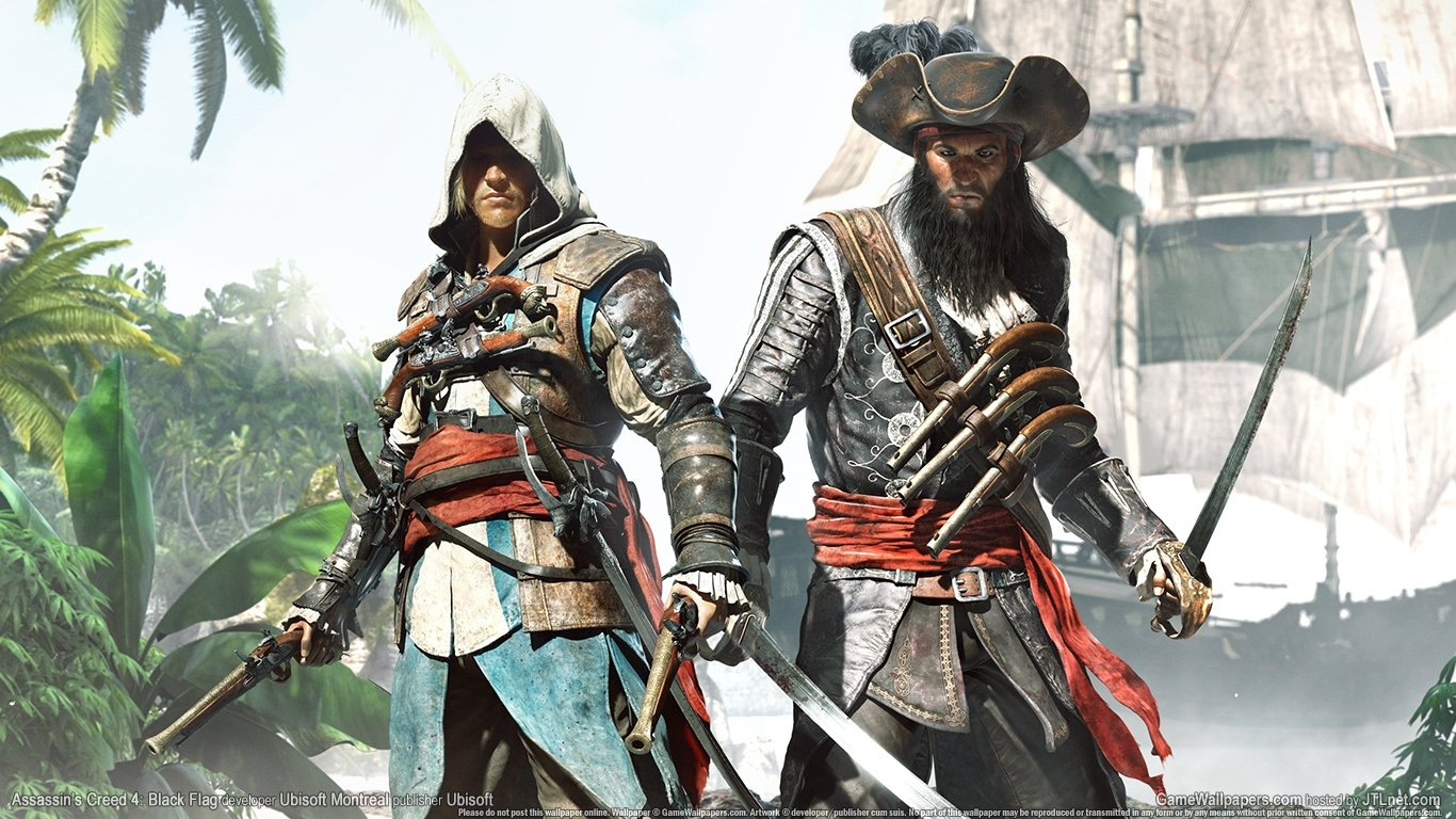 Free download Assassin's Creed 4: Black Flag background ID:234593 1366x768 laptop for PC