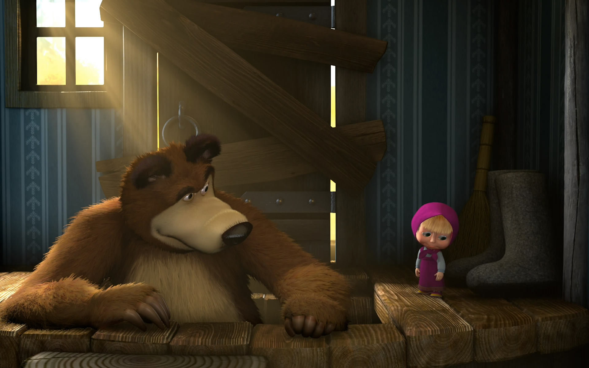 High Resolution Masha And The Bear Hd Wallpaper ID