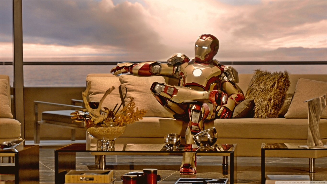 Download 1366x768 laptop Iron Man computer wallpaper ID:84 for free