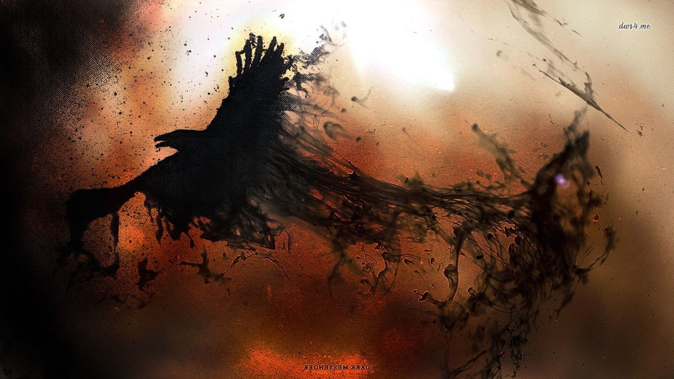 Download 1366x768 laptop Raven computer wallpaper ID:397363 for free