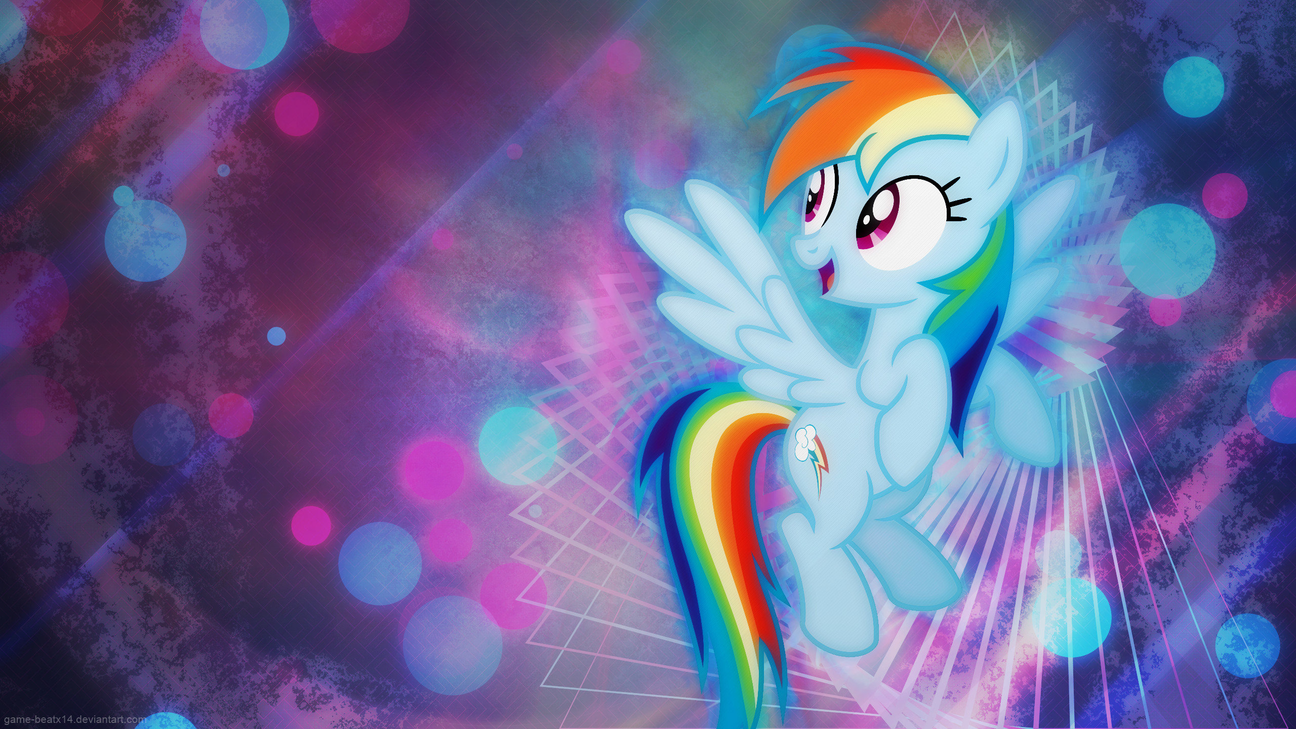 Download hd 2560x1440 Rainbow Dash PC background ID:154046 for free