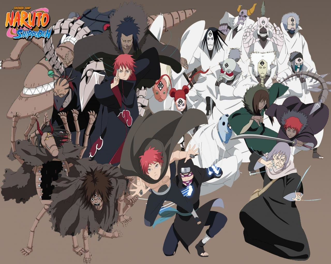 Free download Sasori (Naruto) background ID:396179 hd 1280x1024 for PC