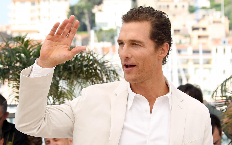 Matthew McConaughey Black & White Portrait Wallpaper