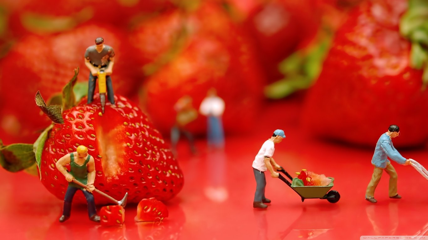 Download laptop Strawberry PC wallpaper ID:90796 for free