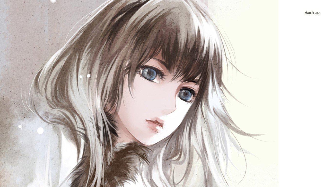 anime girl wallpaper 1366x768 laptop 151142