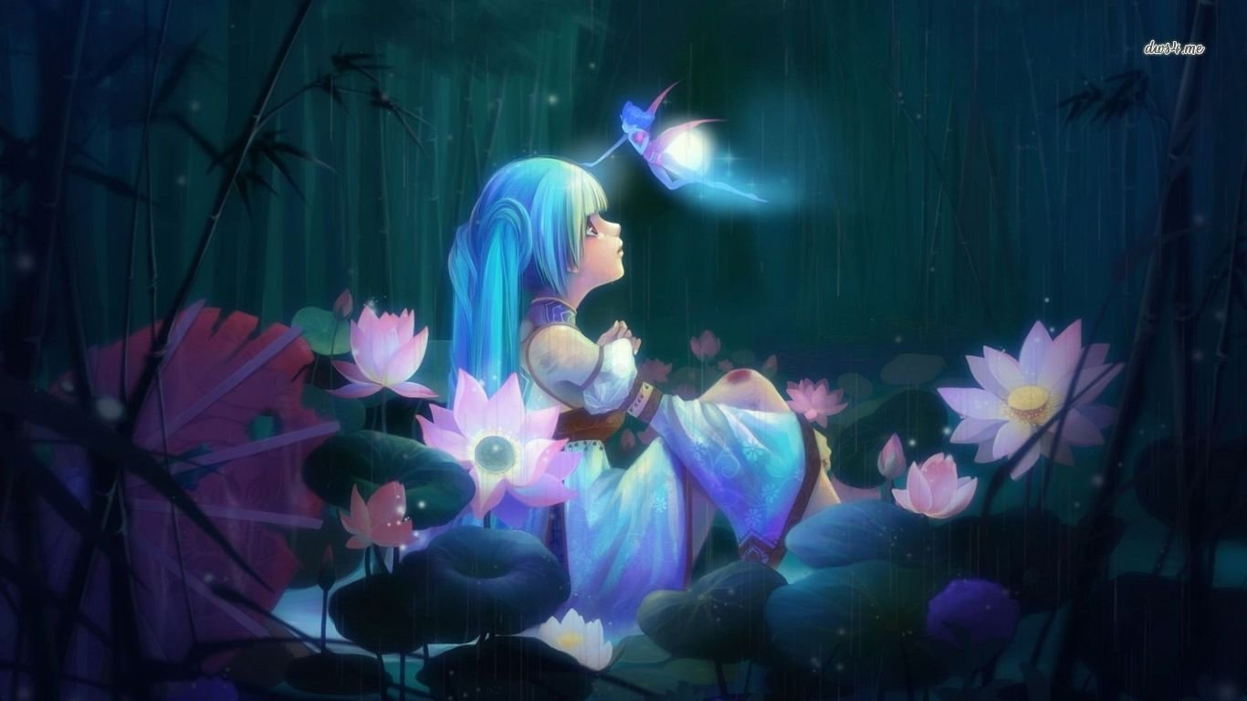 Best Anime Girl Wallpaper Id 151154 For High Resolution Laptop Pc