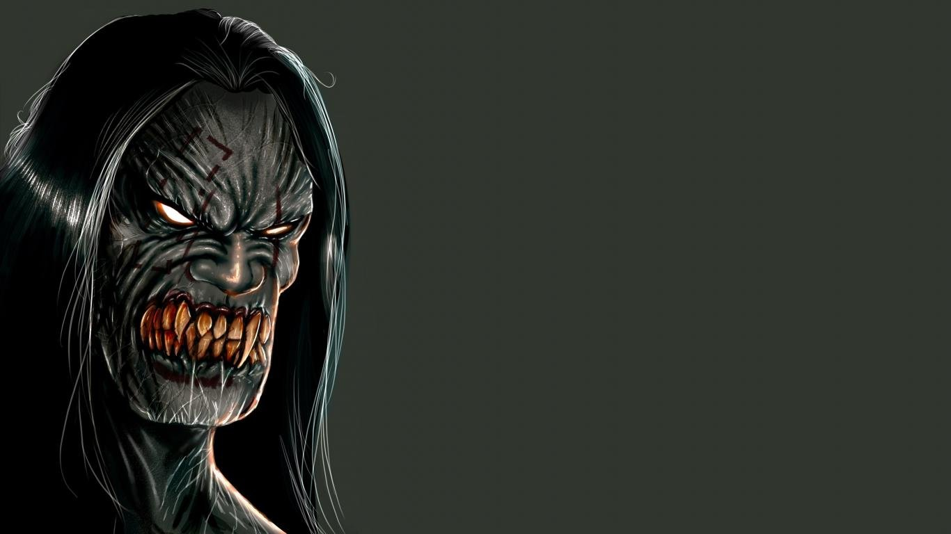 Best Creepy Wallpaper Id 381400 For High Resolution 1366x768