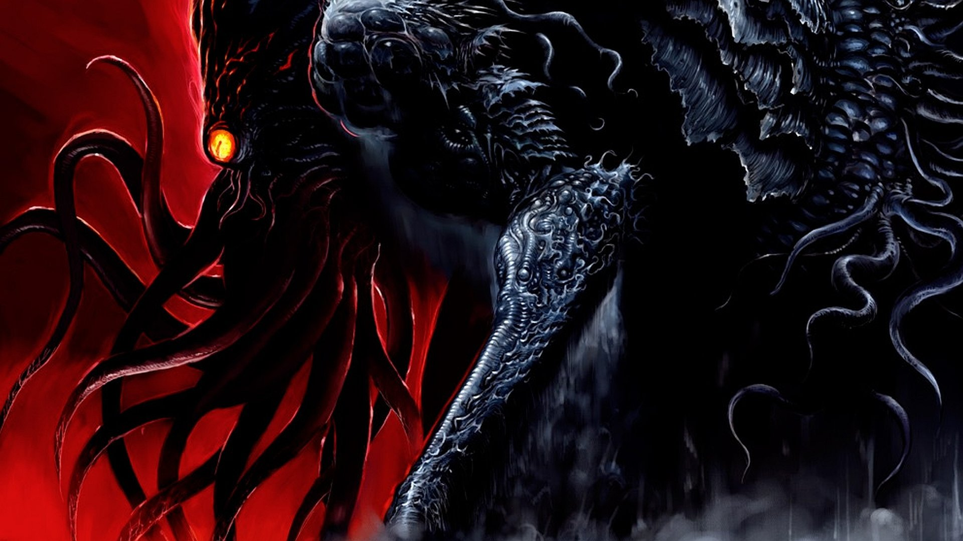 Download Hd 1920x1080 Cthulhu Desktop Wallpaper ID350984 For Free
