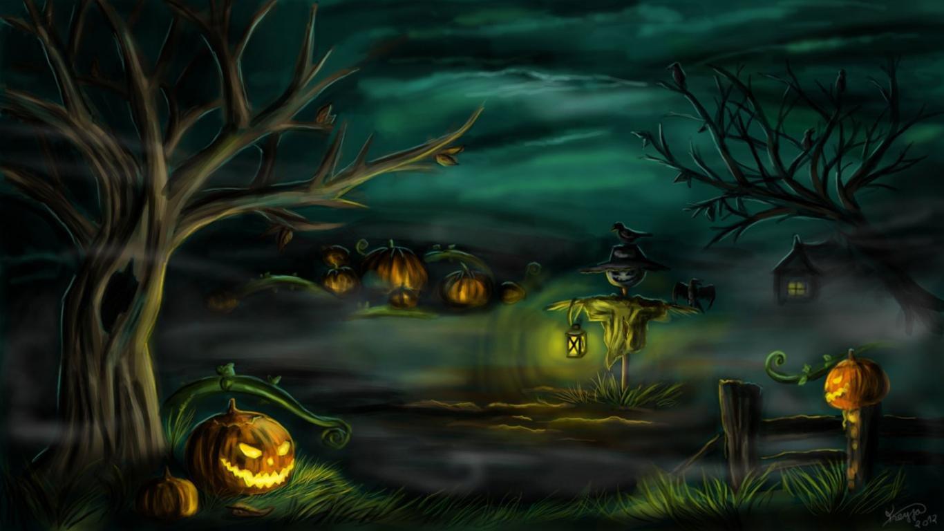 Halloween Wallpapers 1366x768 Laptop Desktop Backgrounds