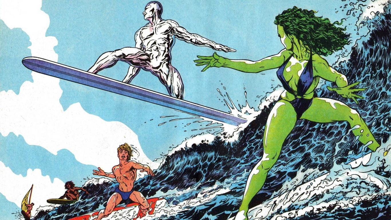 Awesome Silver Surfer Free Background ID165206 For 1366x768 Laptop Computer