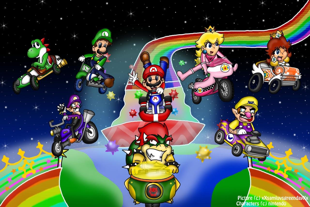 Download hd 1280x854 Mario Kart Wii computer background ID:324435 for free