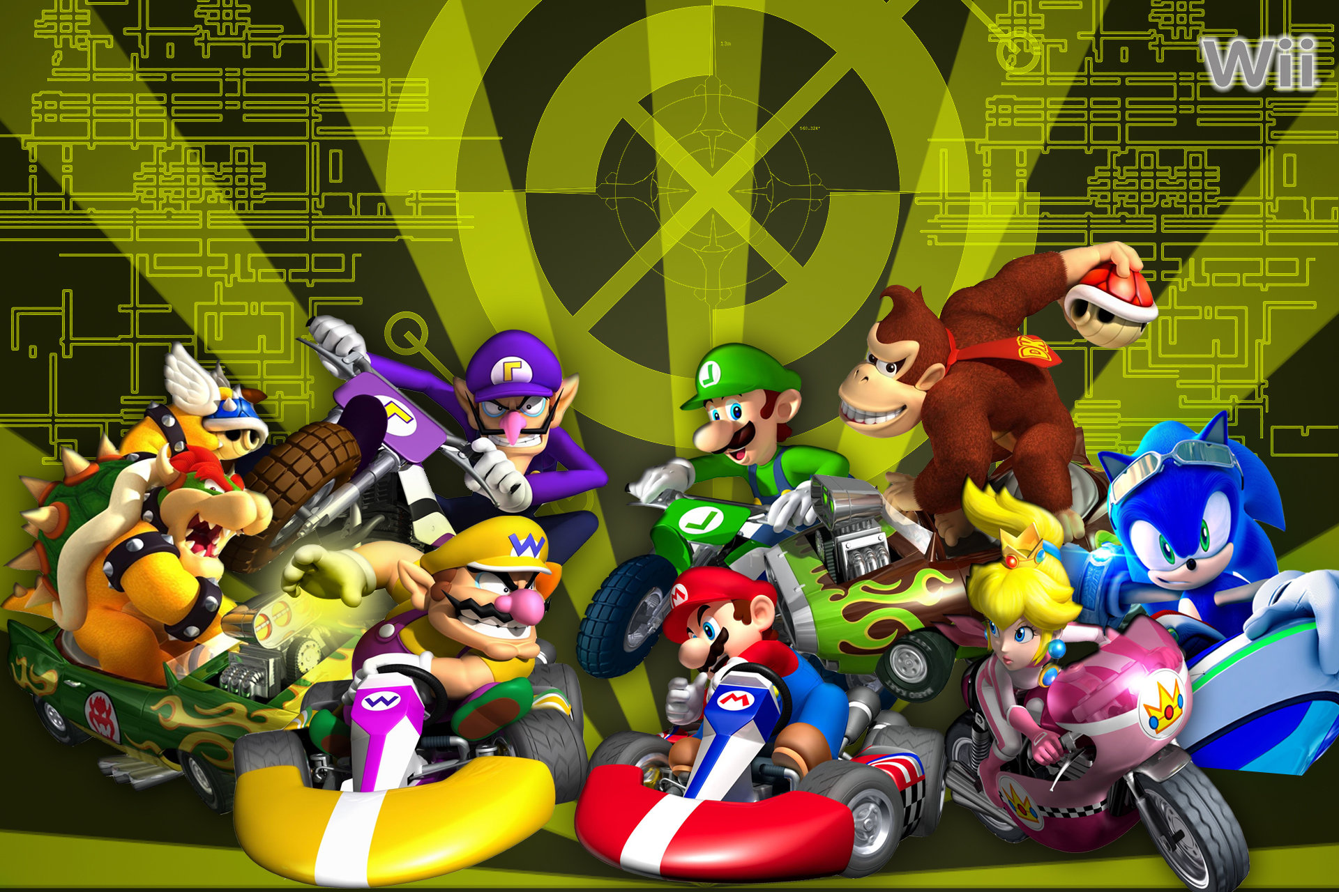 Awesome Mario Kart Wii free wallpaper ID:324428 for hd 1920x1280 desktop