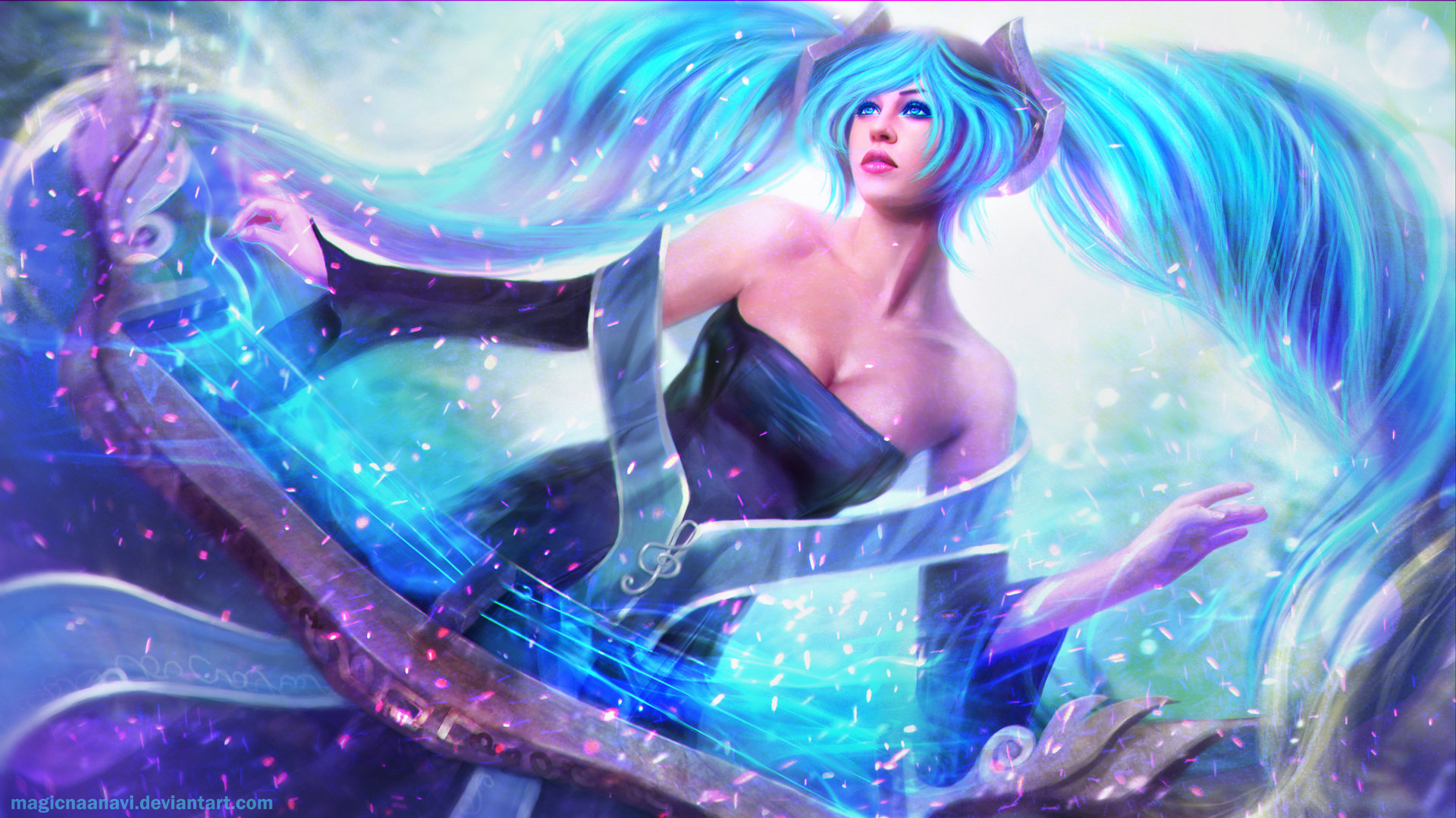 Awesome Sona (League Of Legends) free background ID:172129 for full hd 1920x1080 desktop