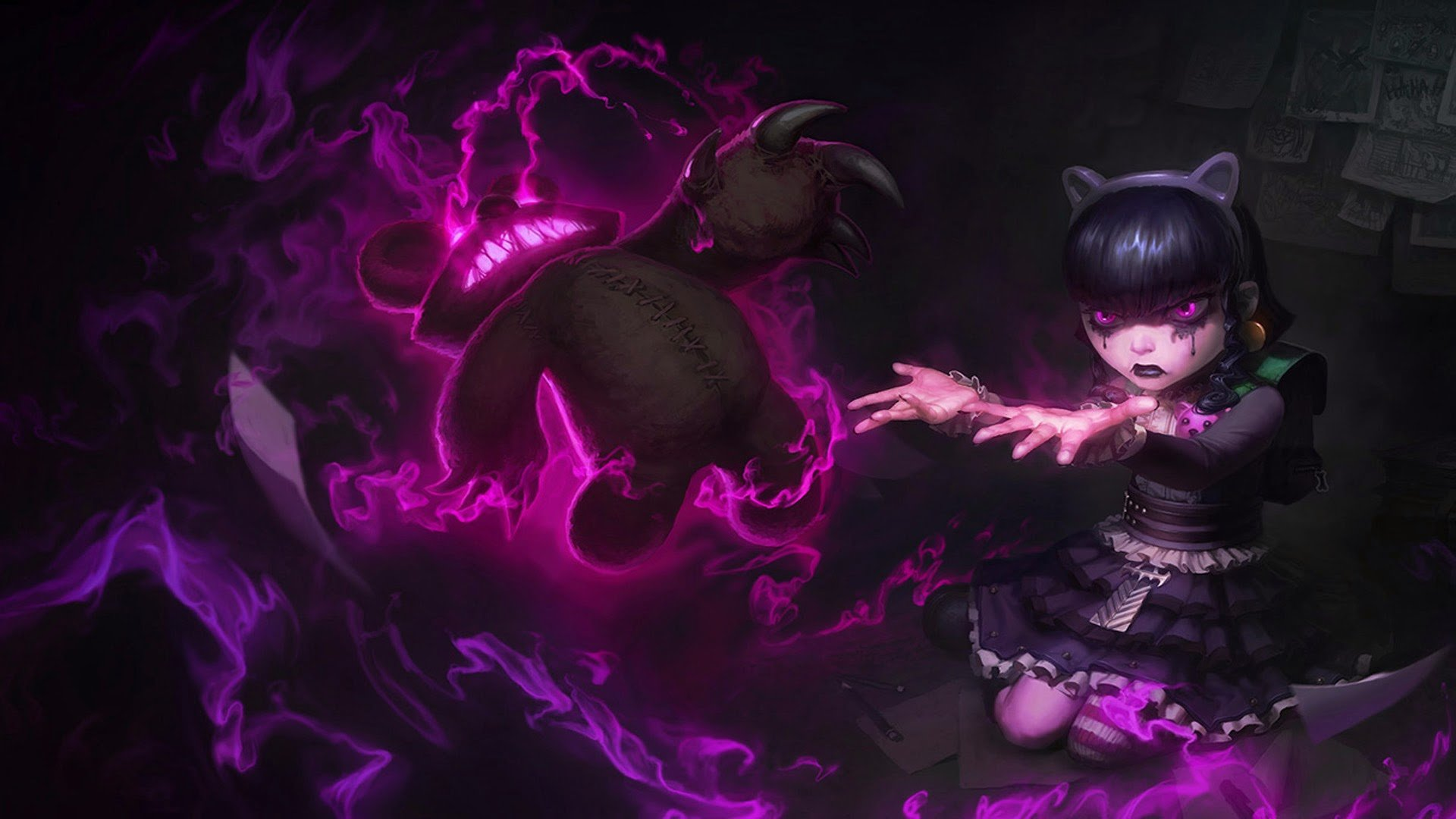 Annie League Of Legends Wallpapers 1920x1080 Full Hd 1080p