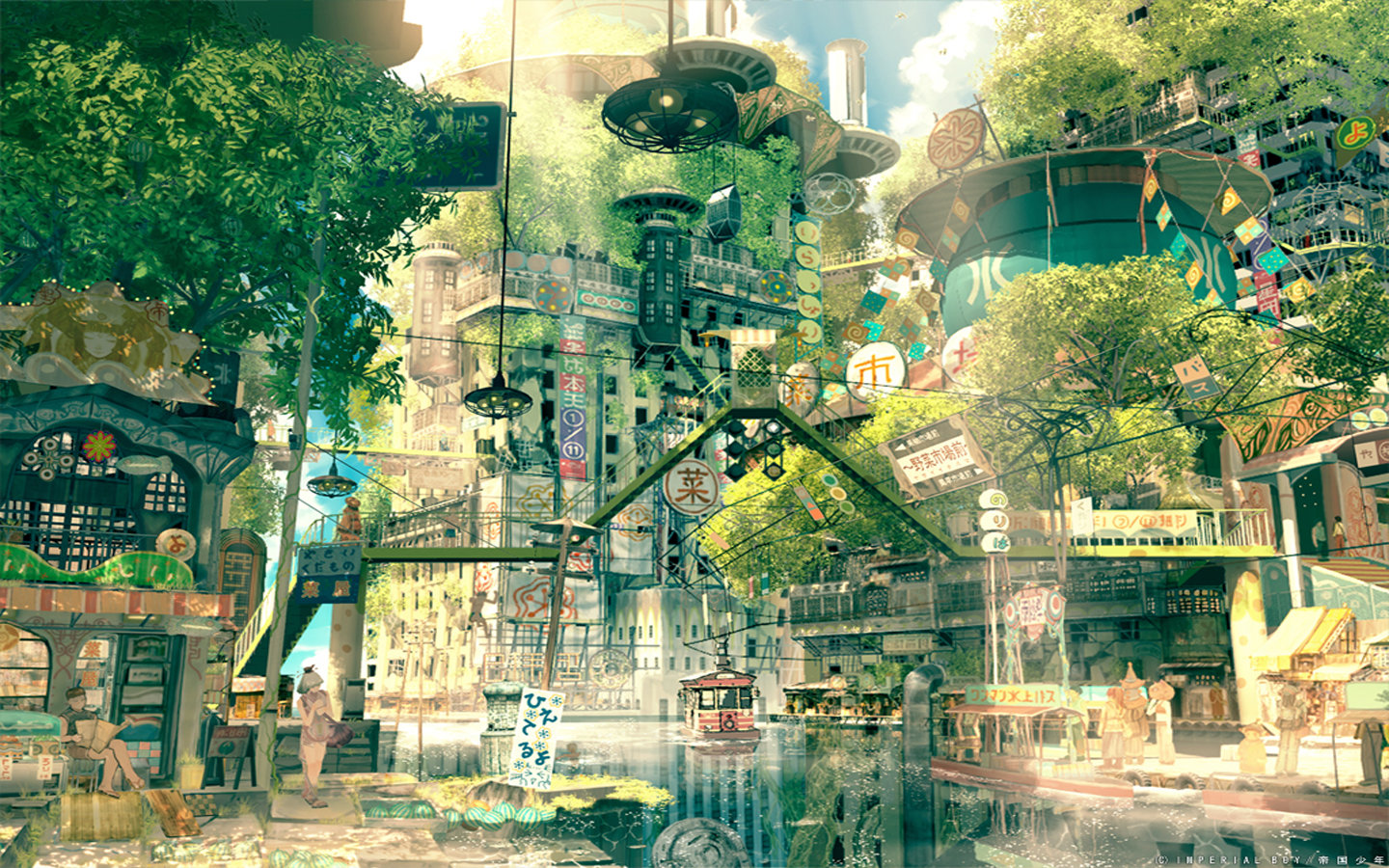 High resolution Scenery anime hd 1440x900 background ID:59804 for PC