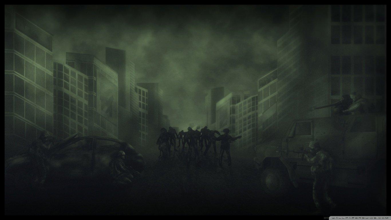 Zombie Wallpapers 1366x768 Laptop Desktop Backgrounds