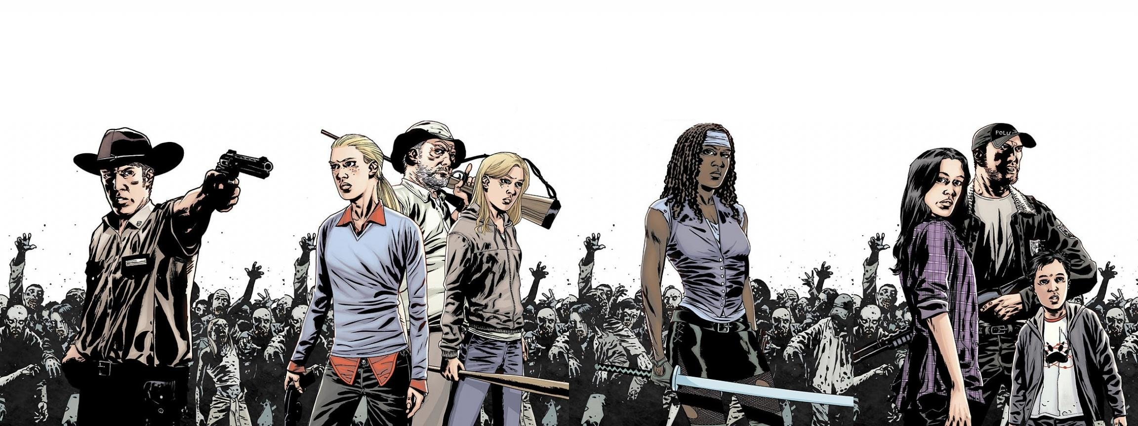 Free Walking Dead Comics high quality background ID:84393 for dual screen 2304x864 computer