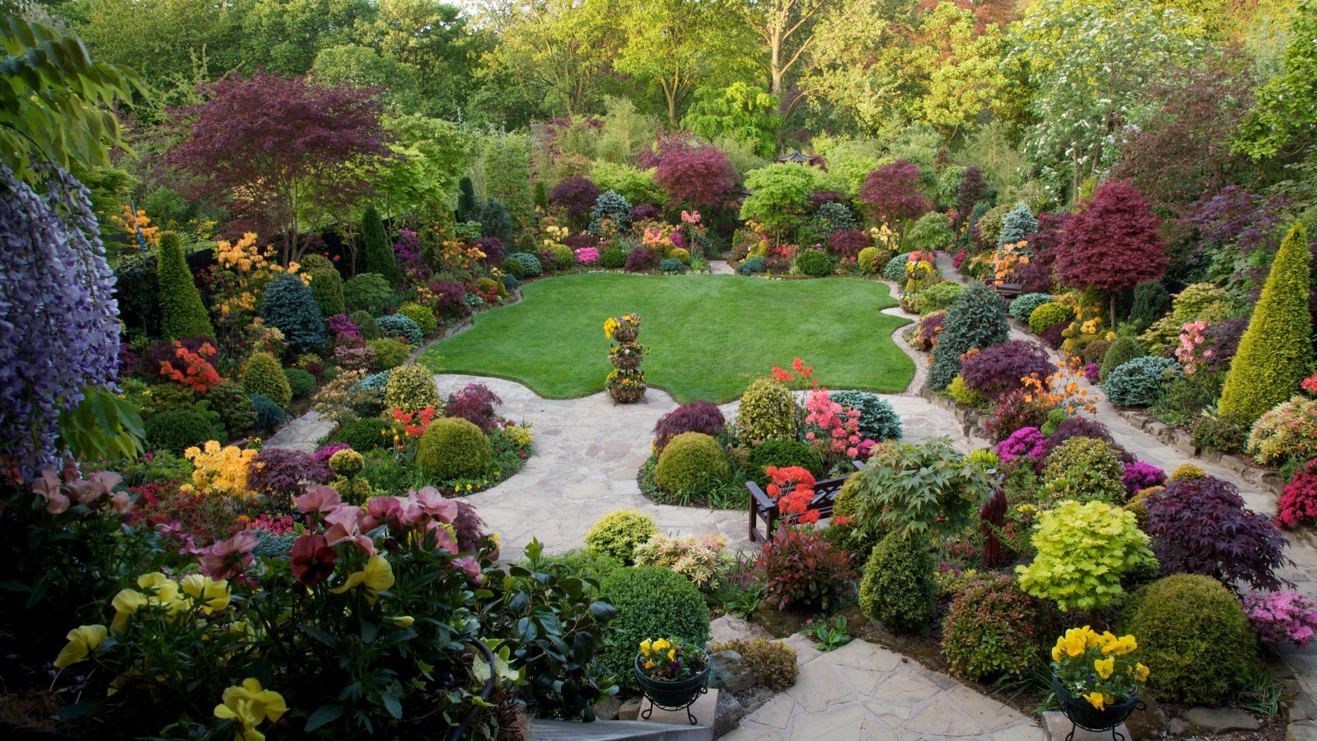 Free Download Garden Background Id 397030 Hd 2560x1440 For Desktop