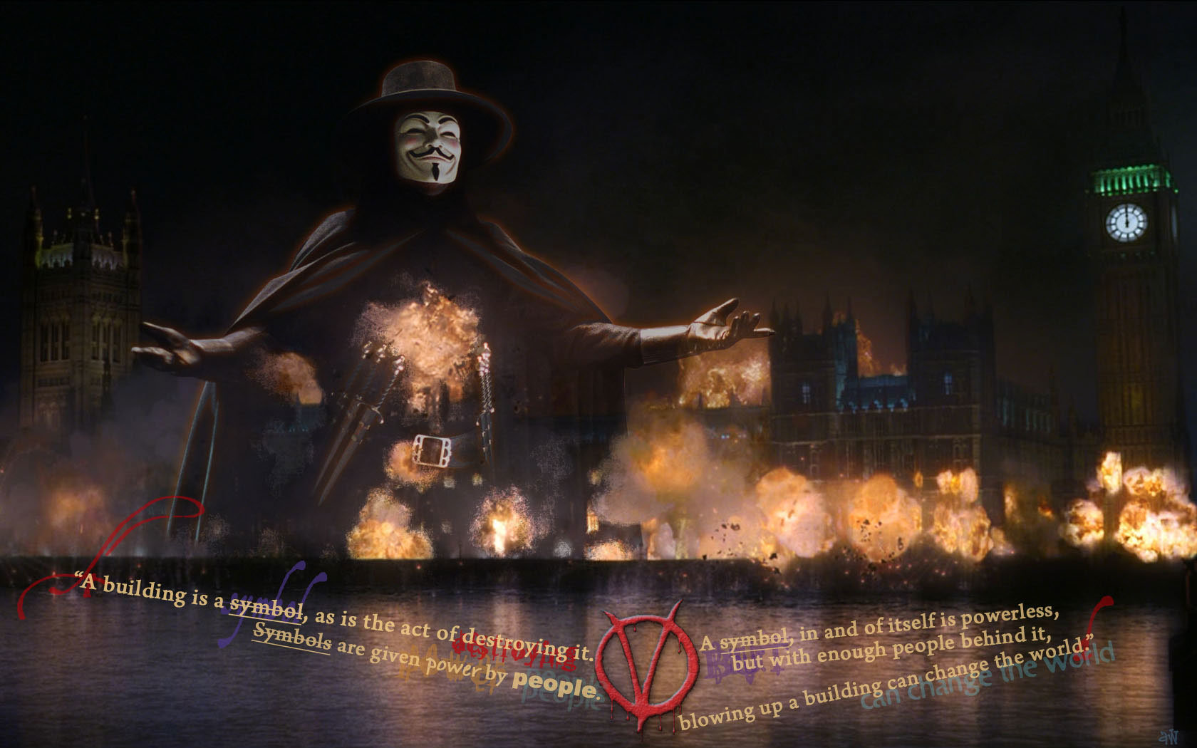 Awesome V For Vendetta Free Background ID92145 Hd 1680x1050 Computer