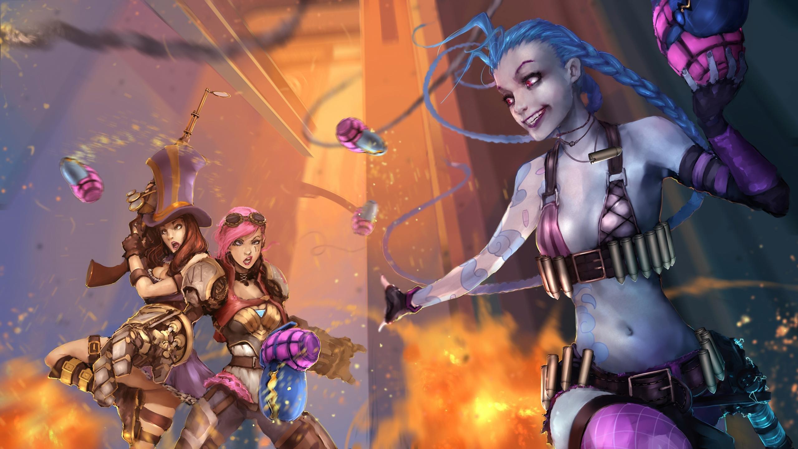 Caitlyn League Of Legends Wallpapers 2560x1440 Desktop Backgrounds
