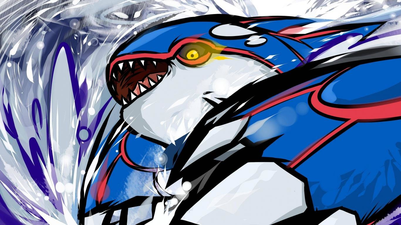 Best Kyogre (Pokemon) background ID:280293 for High Resolution 1366x768 laptop desktop