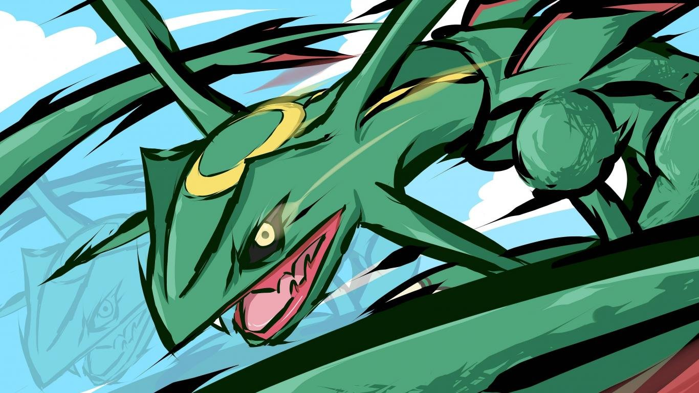 Best Rayquaza (Pokemon) background ID:280129 for High Resolution hd 1366x768 desktop