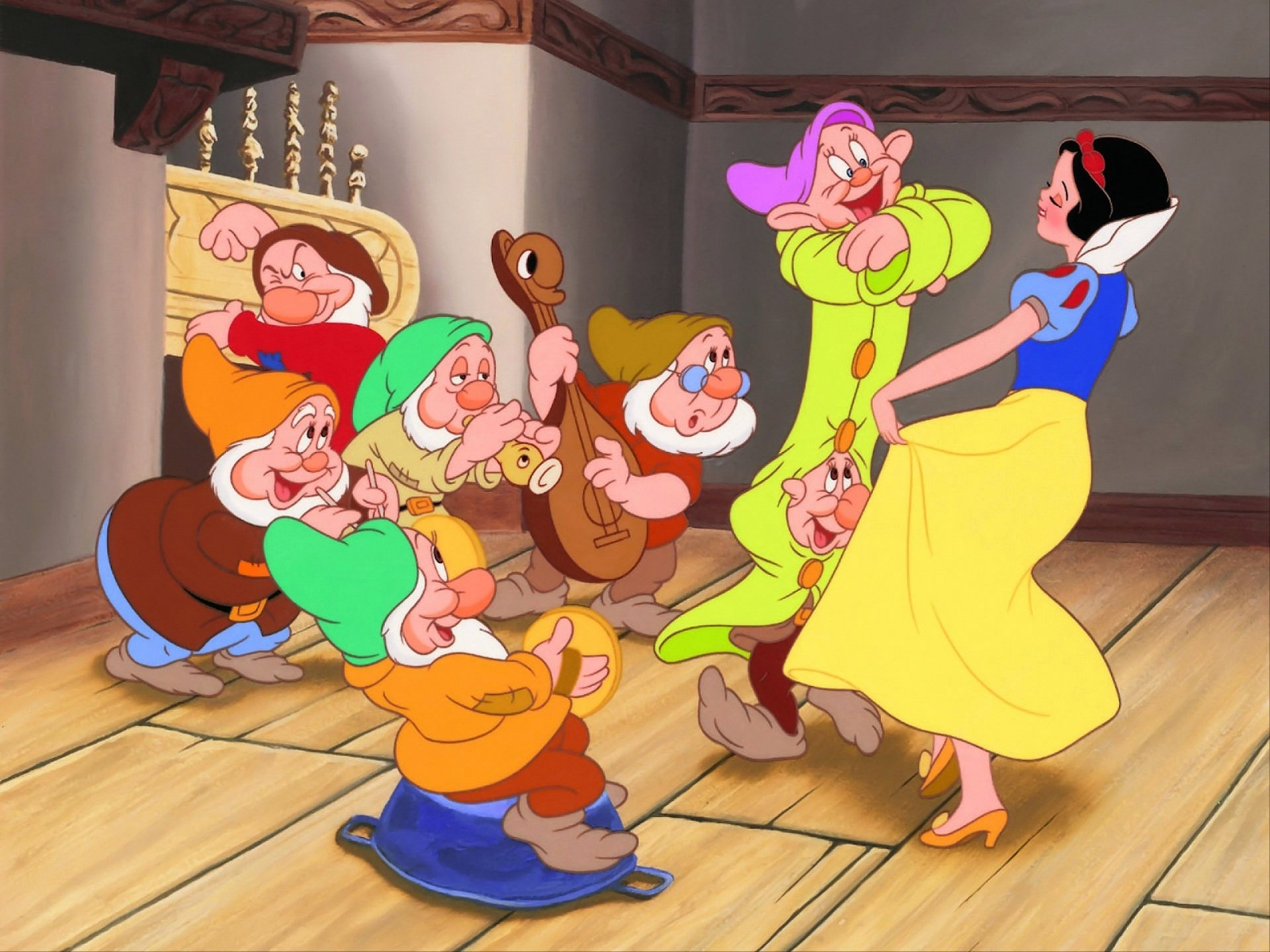 Free Download Snow White And The Seven Dwarfs Wallpaper Id