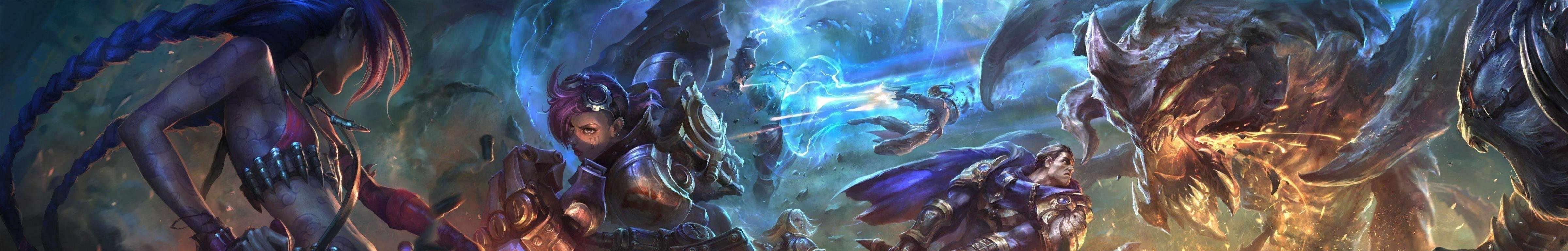 Awesome League Of Legends (LOL) free wallpaper ID:171019 for triple monitor 4800x768 desktop