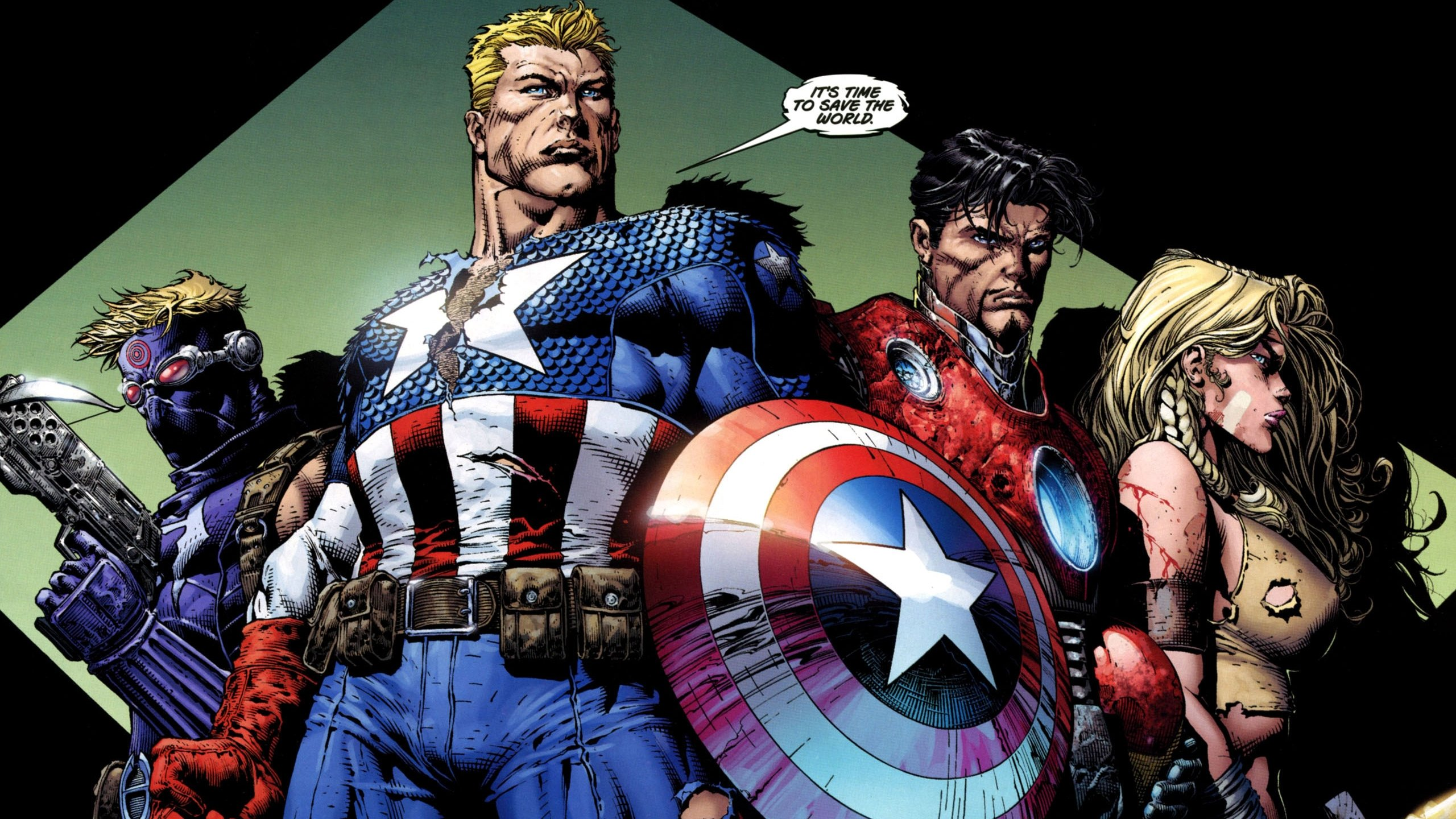 High Resolution Captain America Marvel Comics Hd 2560x1440