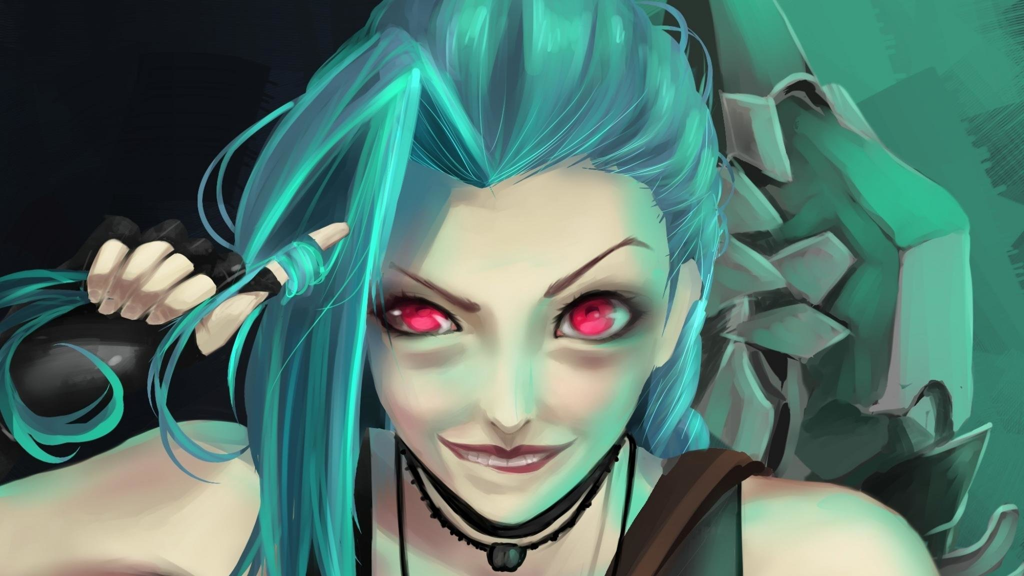 Awesome Jinx (League Of Legends) free background ID:171400 for hd 2048x1152 computer