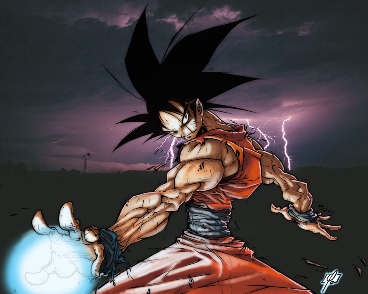 Download hd 1280x1024 Goku computer wallpaper ID:461901 for free