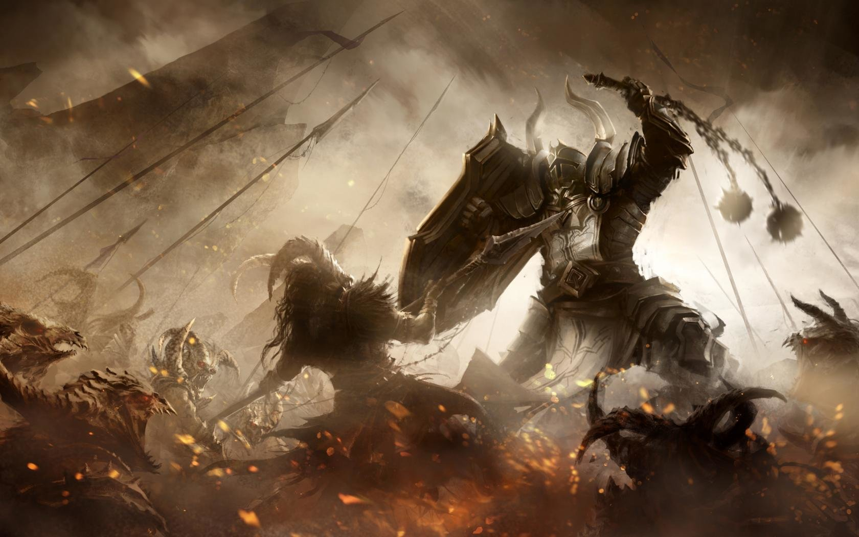 Crusader Diablo 3 Wallpapers 1680x1050 Desktop Backgrounds