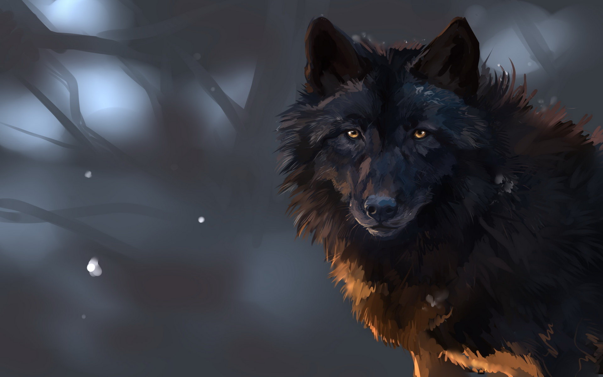 Download hd 1920x1200 Wolf PC wallpaper ID:117628 for free