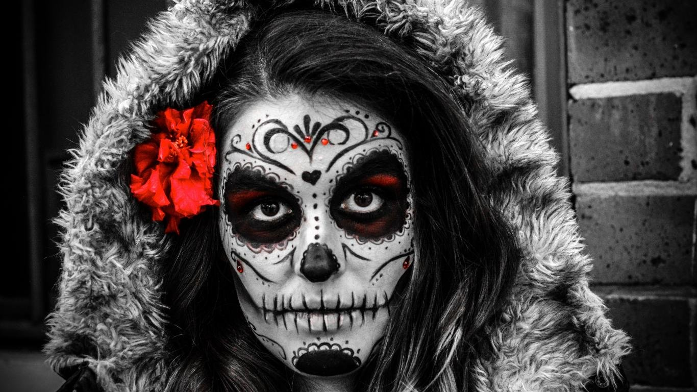 Day Of The Dead Wallpapers 1366x768 Laptop Desktop Backgrounds